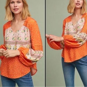 Anthropologie Mauve Blouse